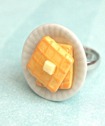 Breakfast Waffles Ring - Jillicious charms and accessories - 1