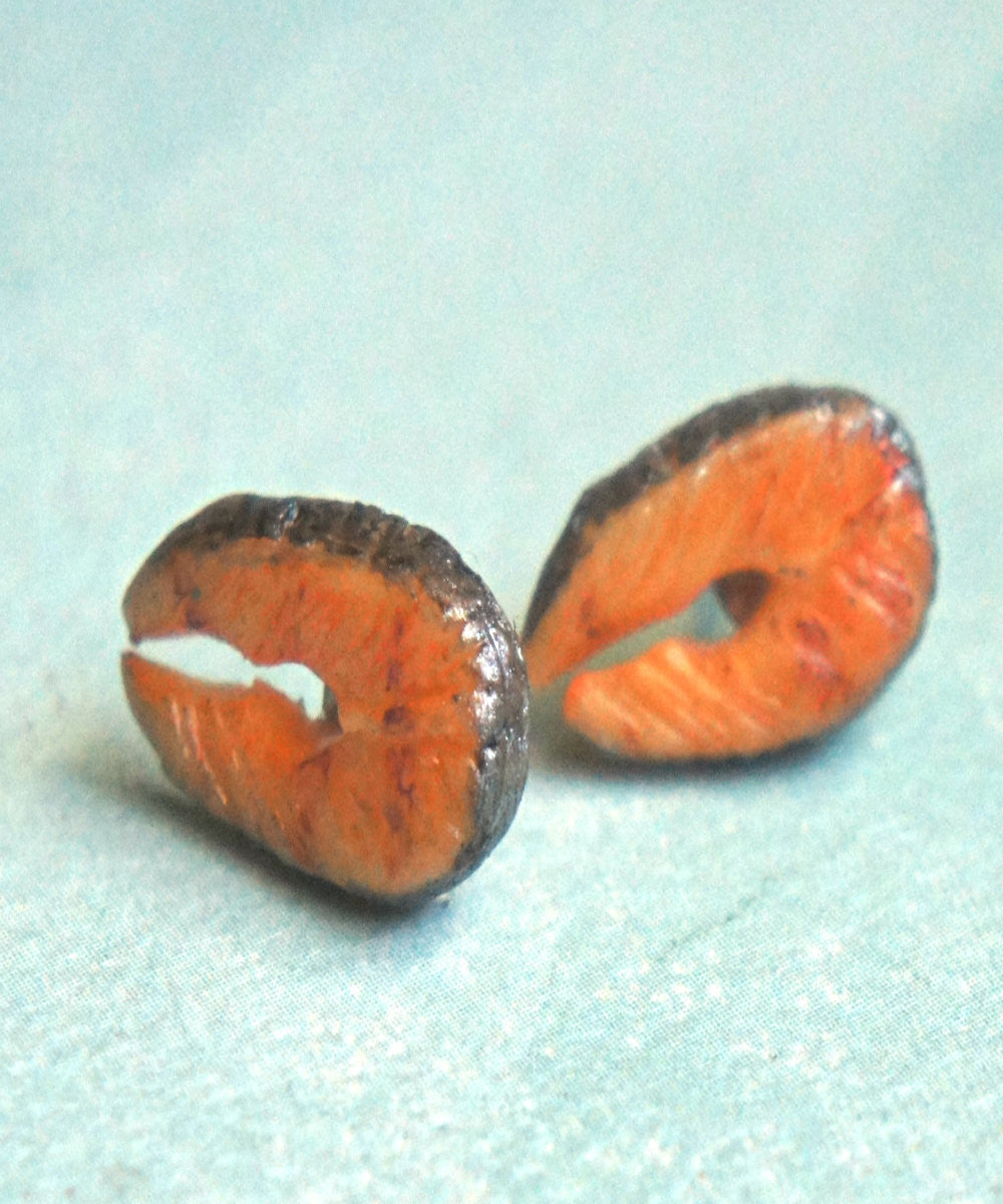 Salmon Stud Earrings - Jillicious charms and accessories - 2
