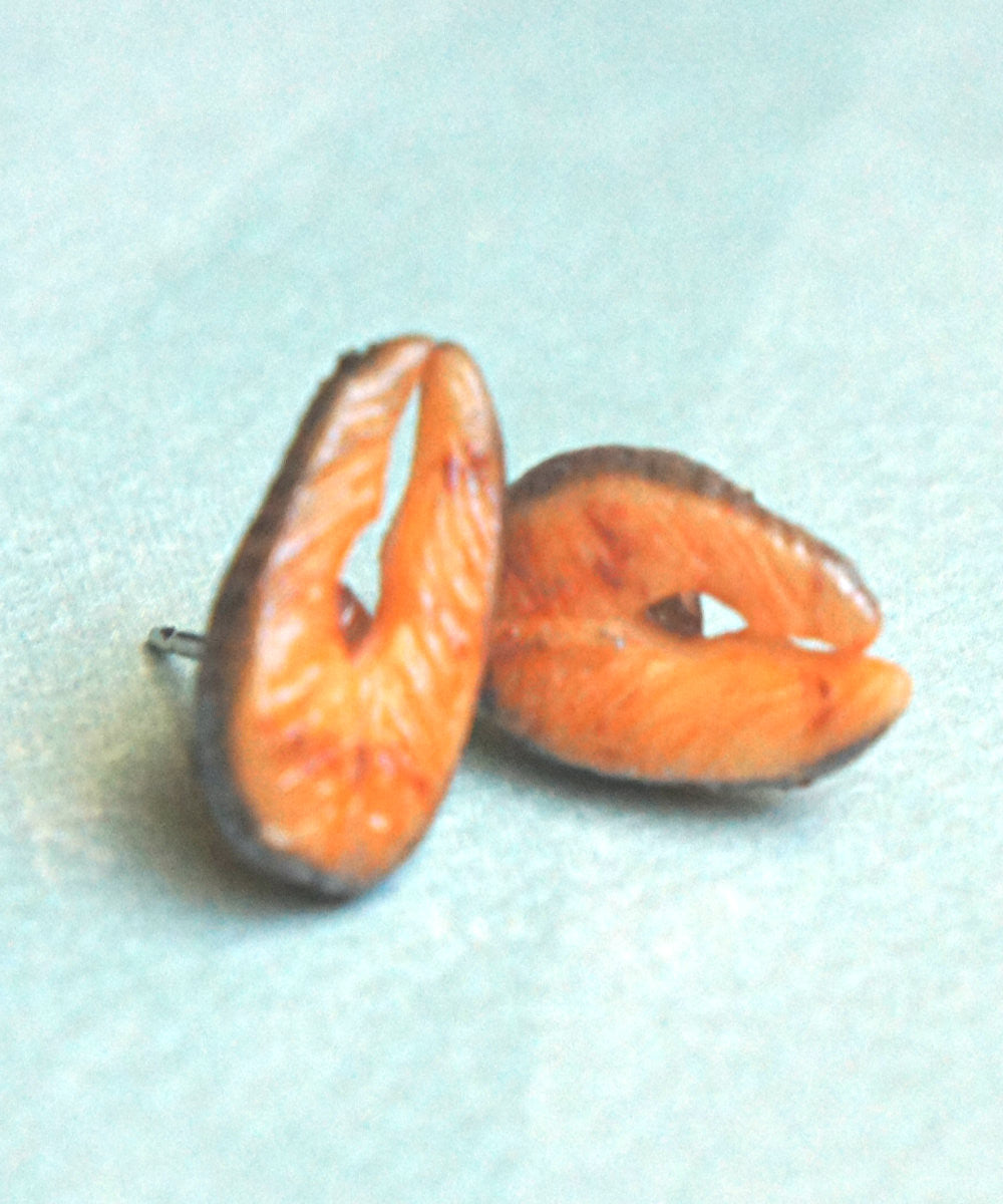 Salmon Stud Earrings - Jillicious charms and accessories - 3