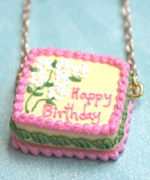 Birthday Cake Necklace - Jillicious charms and accessories