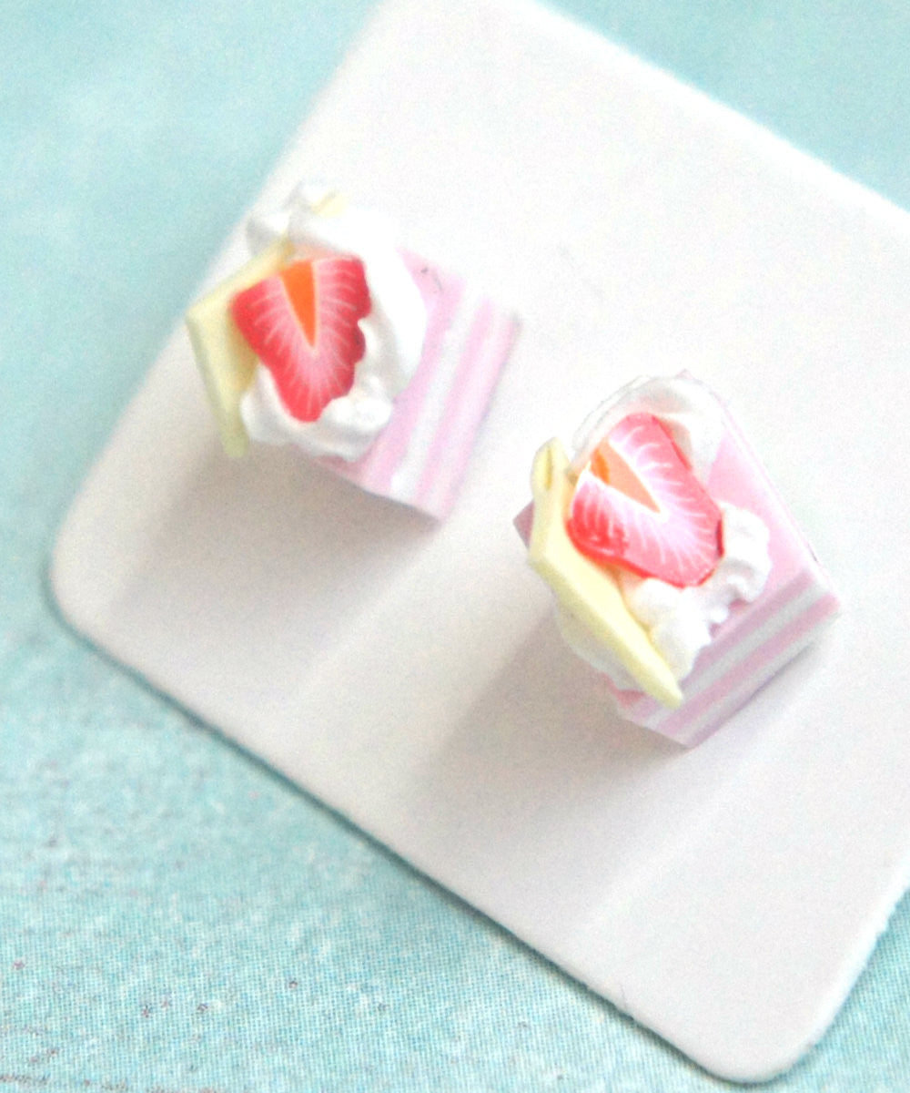 Strawberry Shortcake Stud Earrings - Jillicious charms and accessories - 1
