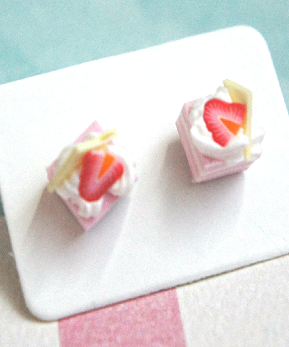 Strawberry Shortcake Stud Earrings - Jillicious charms and accessories - 2