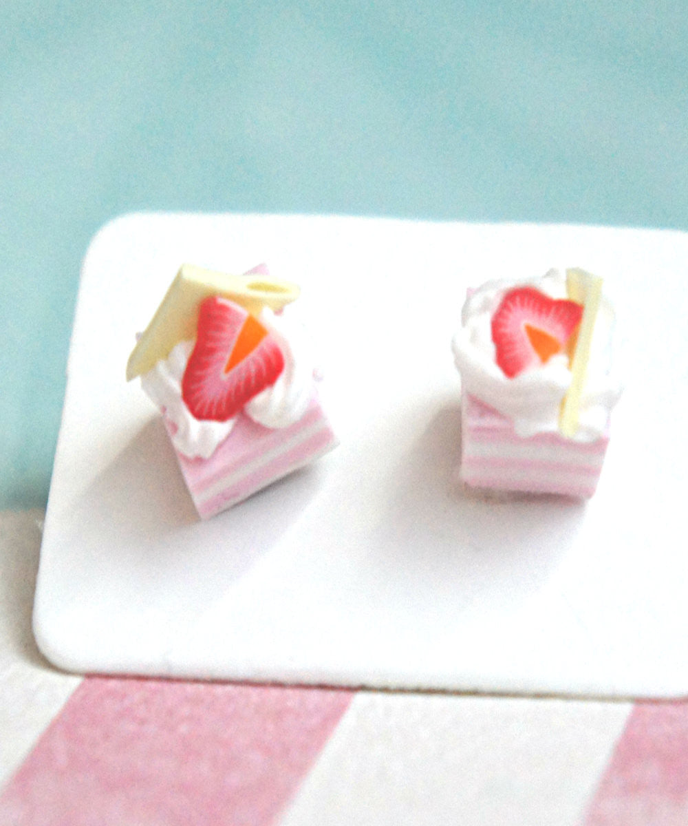Strawberry Shortcake Stud Earrings - Jillicious charms and accessories - 3