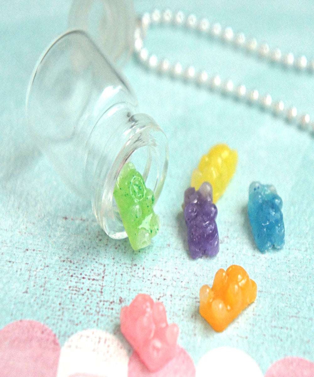 gummy bears in a jar necklace - Jillicious charms and accessories - 3