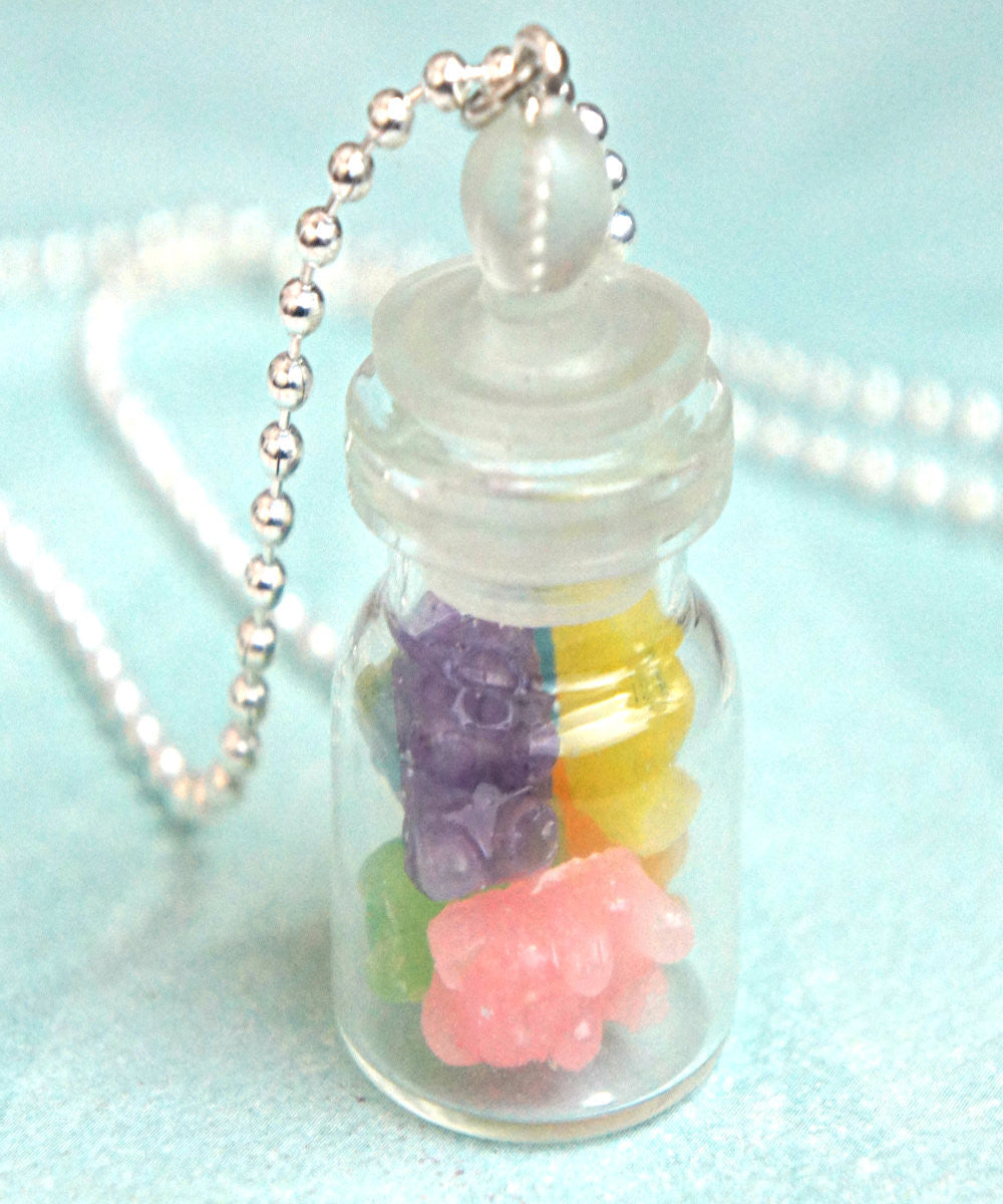 gummy bears in a jar necklace - Jillicious charms and accessories - 1