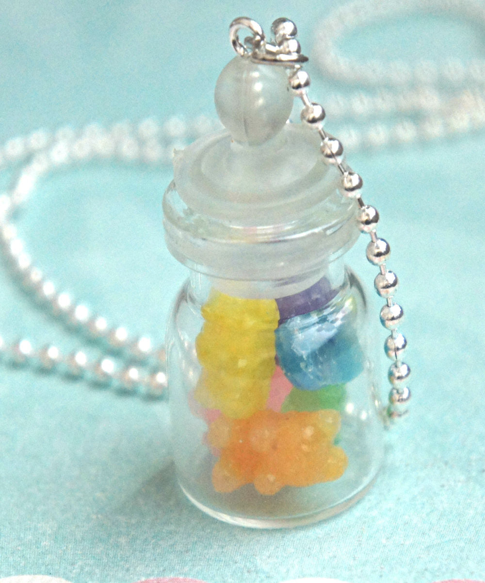 gummy bears in a jar necklace - Jillicious charms and accessories - 2