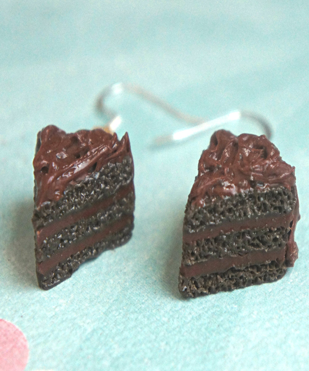 chocolate cake dangle earrings - Jillicious charms and accessories - 3