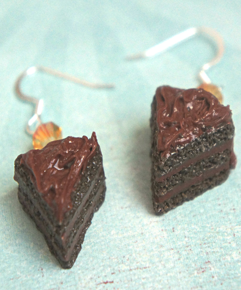 chocolate cake dangle earrings - Jillicious charms and accessories - 4