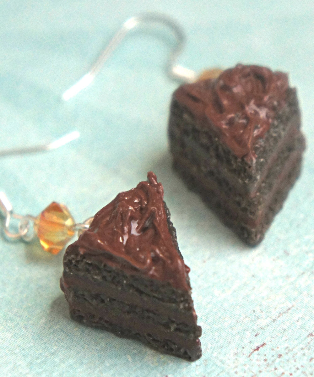 chocolate cake dangle earrings - Jillicious charms and accessories - 2