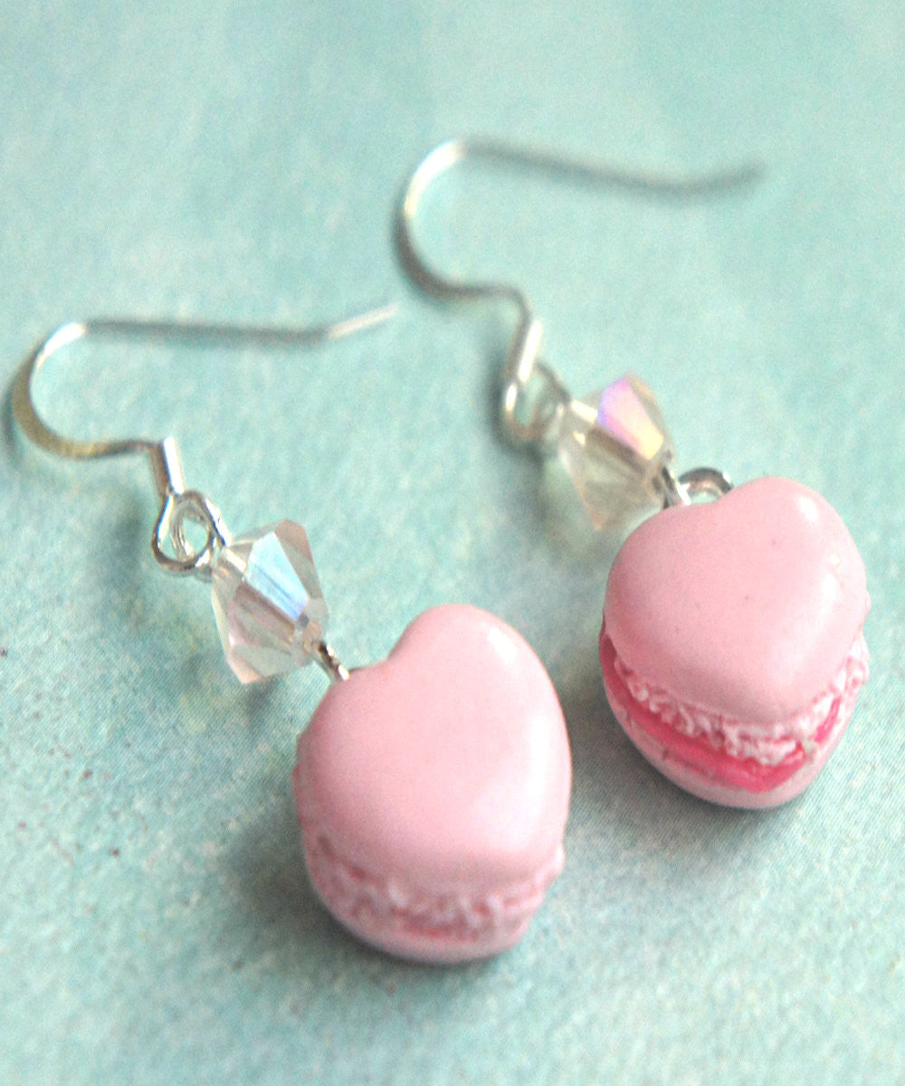 Heart Macarons Dangle Earrings - Jillicious charms and accessories