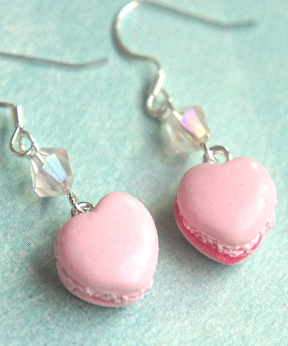 Heart Macarons Dangle Earrings - Jillicious charms and accessories - 5