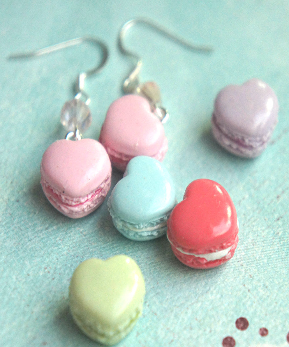 Heart Macarons Dangle Earrings - Jillicious charms and accessories - 4