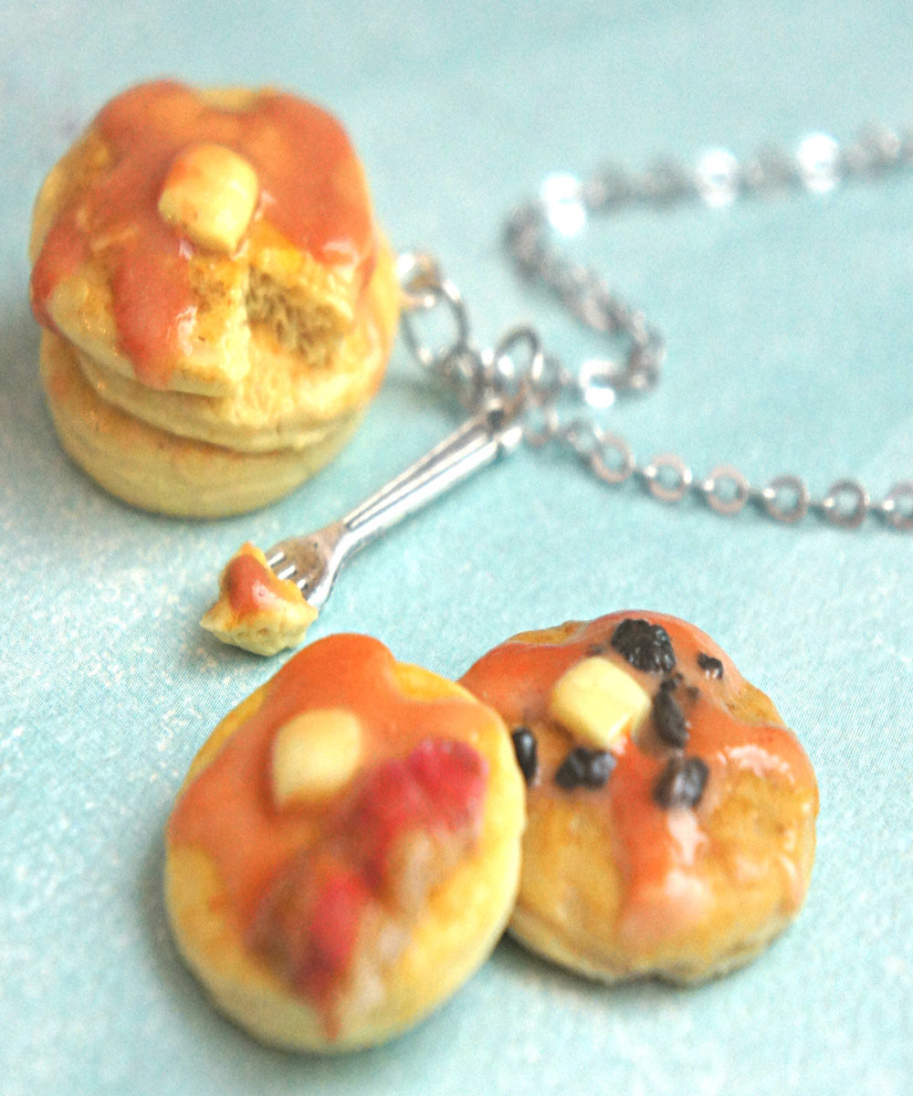 Pancake Stack Necklace - Jillicious charms and accessories - 1