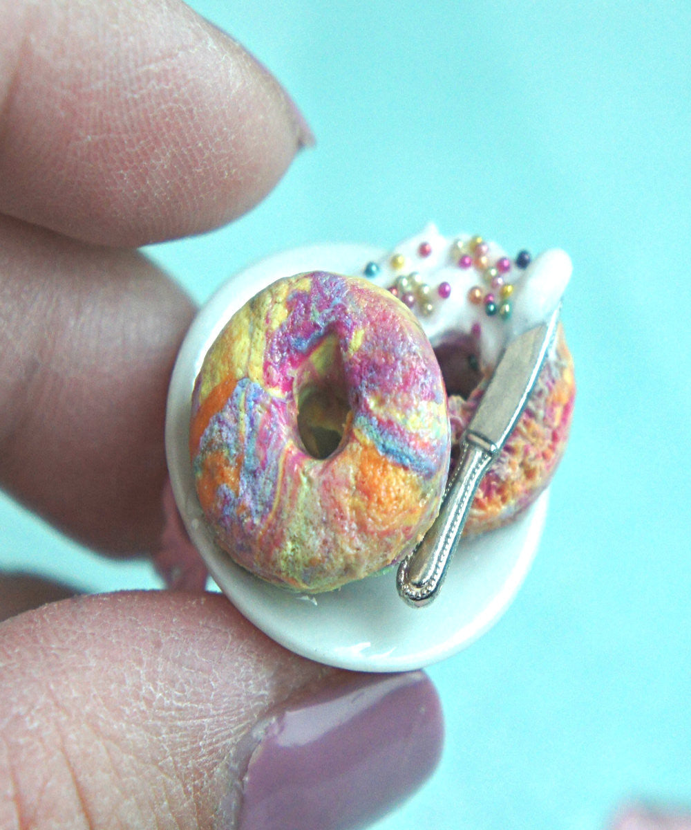 Rainbow Bagel Ring - Jillicious charms and accessories - 5