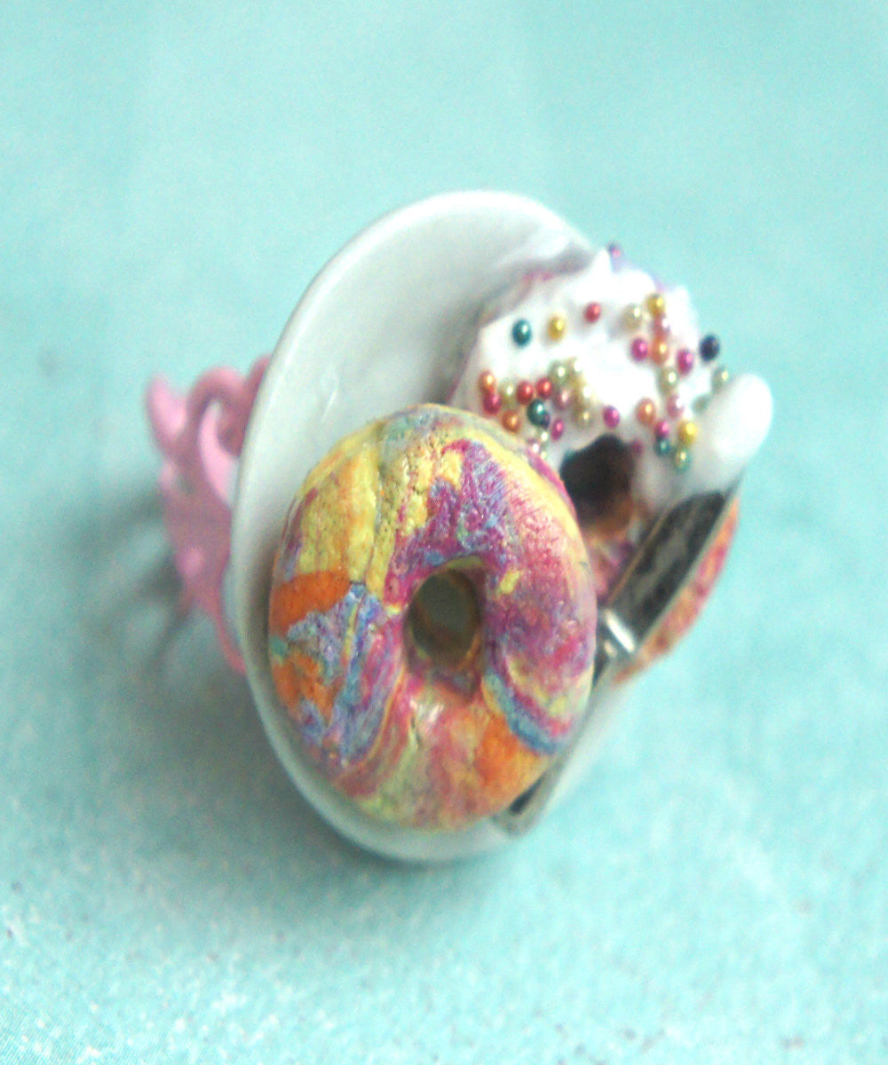 Rainbow Bagel Ring - Jillicious charms and accessories - 6