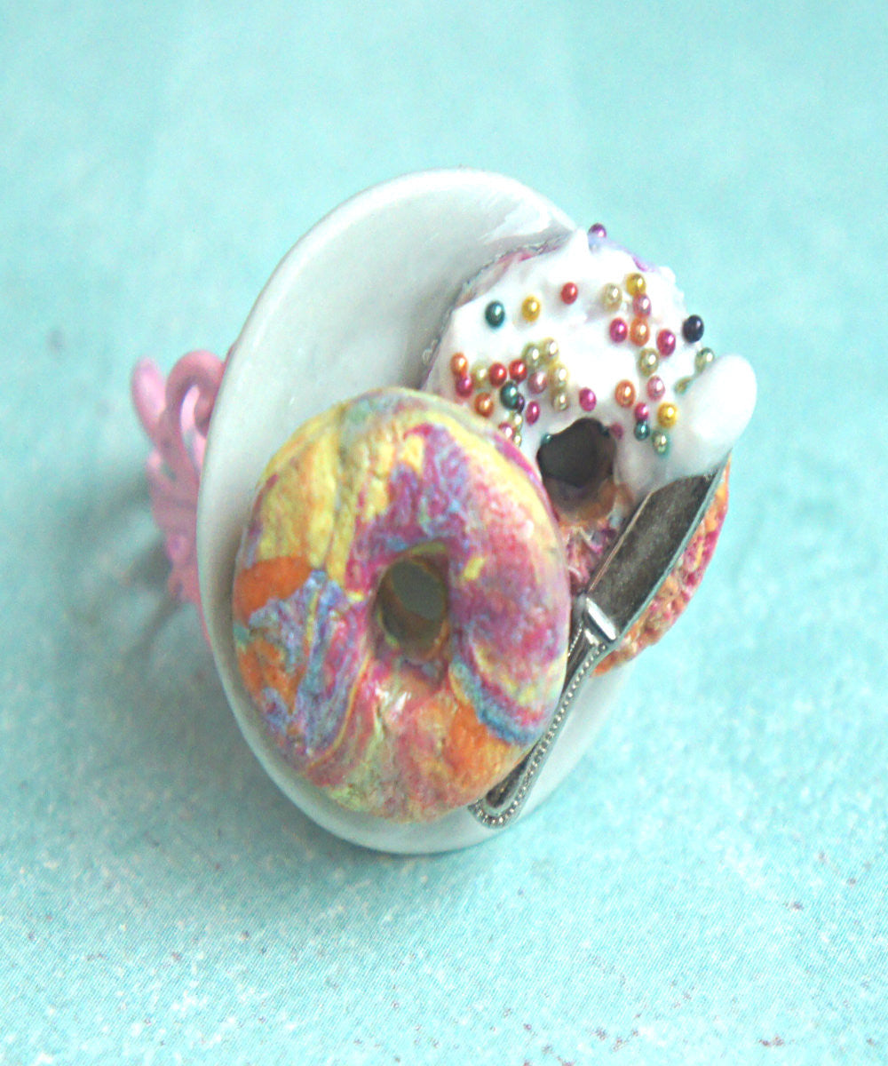 Rainbow Bagel Ring - Jillicious charms and accessories - 2