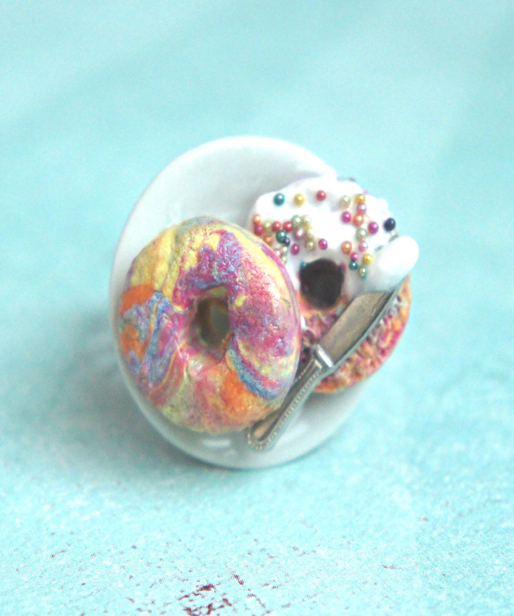 Rainbow Bagel Ring - Jillicious charms and accessories - 3