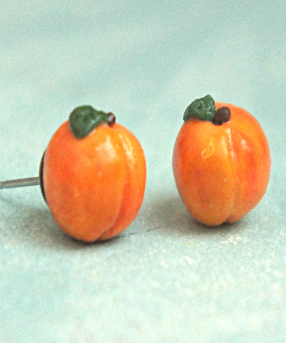 Peach Stud Earrings - Jillicious charms and accessories - 1