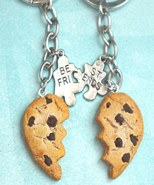chocolate chip cookie friendship keychain - Jillicious charms and accessories