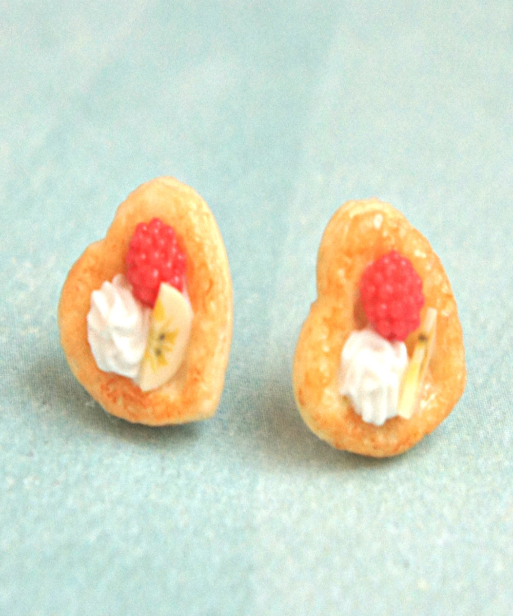 Raspberry Banana Pastry Stud Earrings - Jillicious charms and accessories - 1