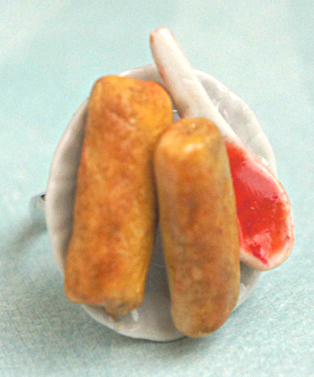 egg rolls ring - Jillicious charms and accessories - 3