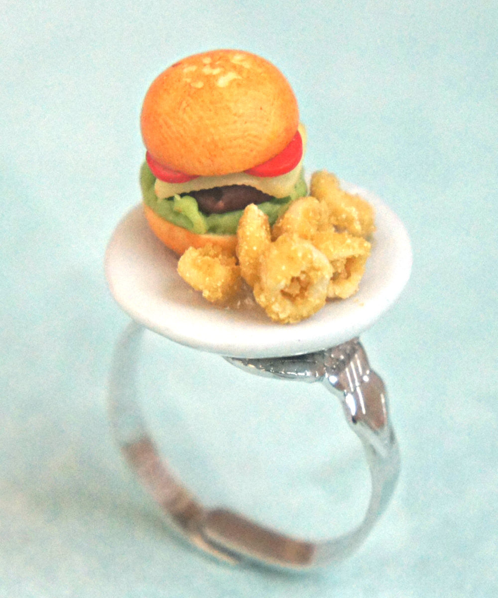 burger and onion rings/fries ring - Jillicious charms and accessories - 3