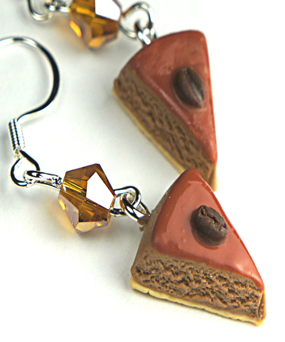 Tiramisu Cake Dangle Earrings - Jillicious charms and accessories - 1