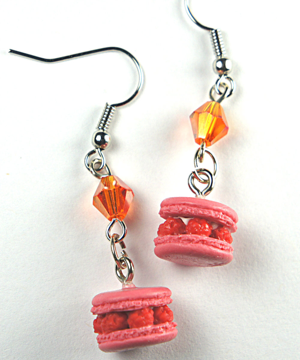 Raspberry Macarons Dangle Earrings - Jillicious charms and accessories - 1