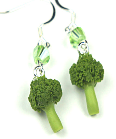 Broccoli Dangle Earrings - Jillicious charms and accessories - 1