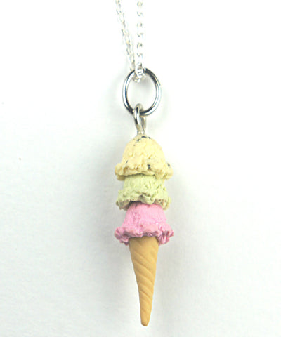 Triple Scoop Ice Cream Necklace - Jillicious charms and accessories - 1