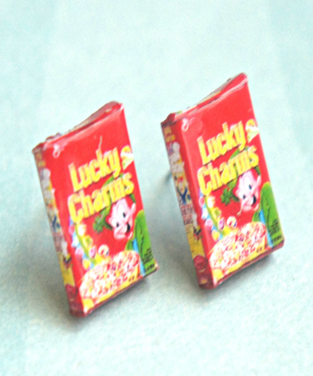 Lucky Charms Cereal Box Earrings - Jillicious charms and accessories