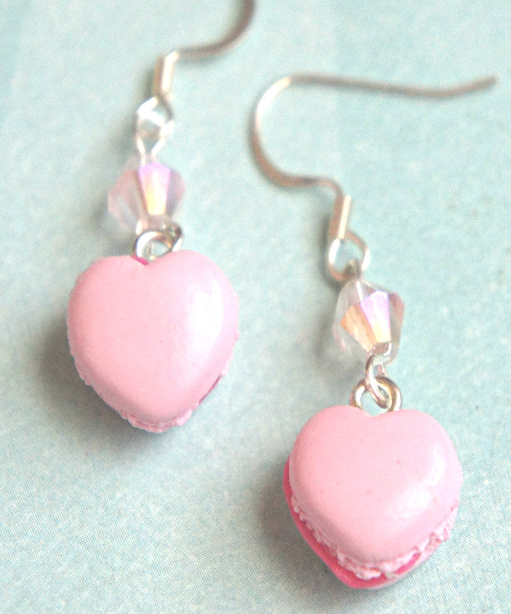 Heart Macarons Dangle Earrings - Jillicious charms and accessories - 1