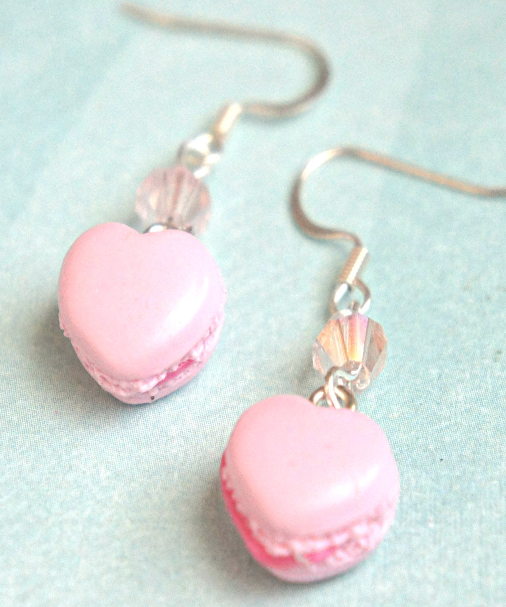 Heart Macarons Dangle Earrings - Jillicious charms and accessories - 2