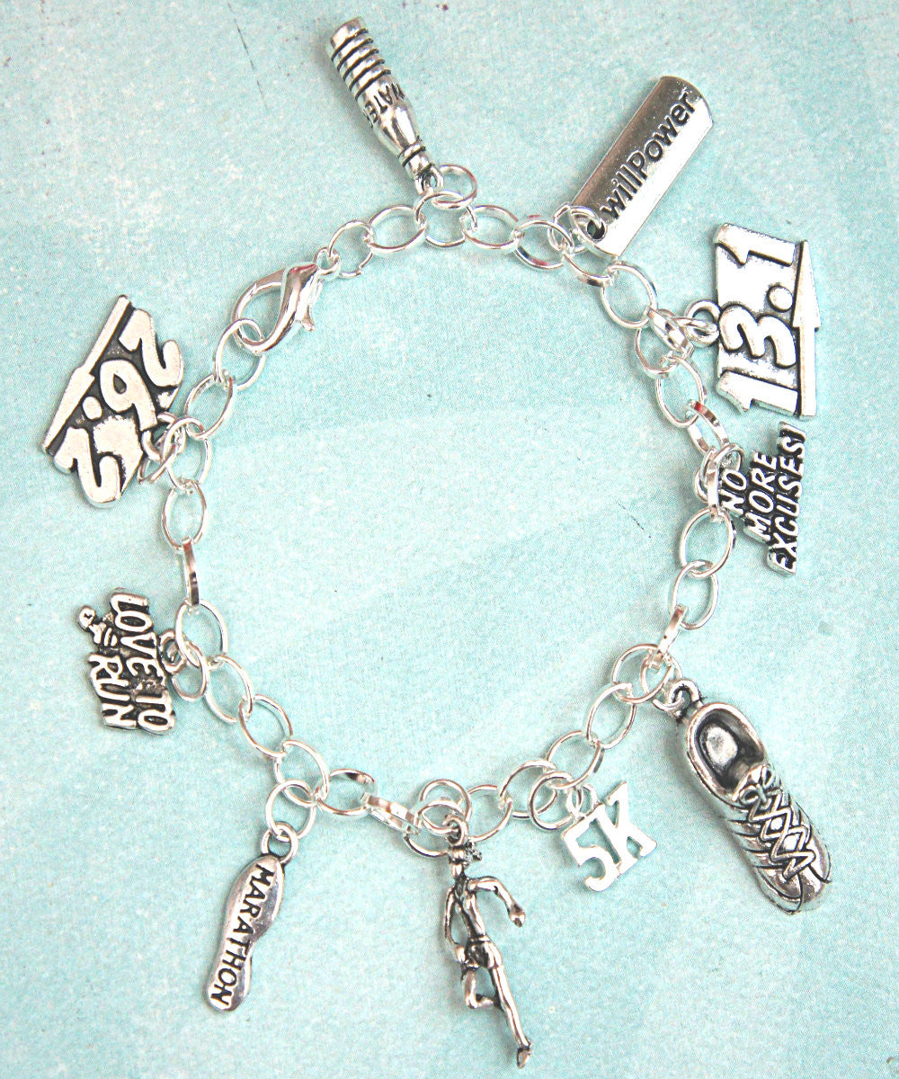 Marathon Inspired Charm Bracelet - Jillicious charms and accessories - 1