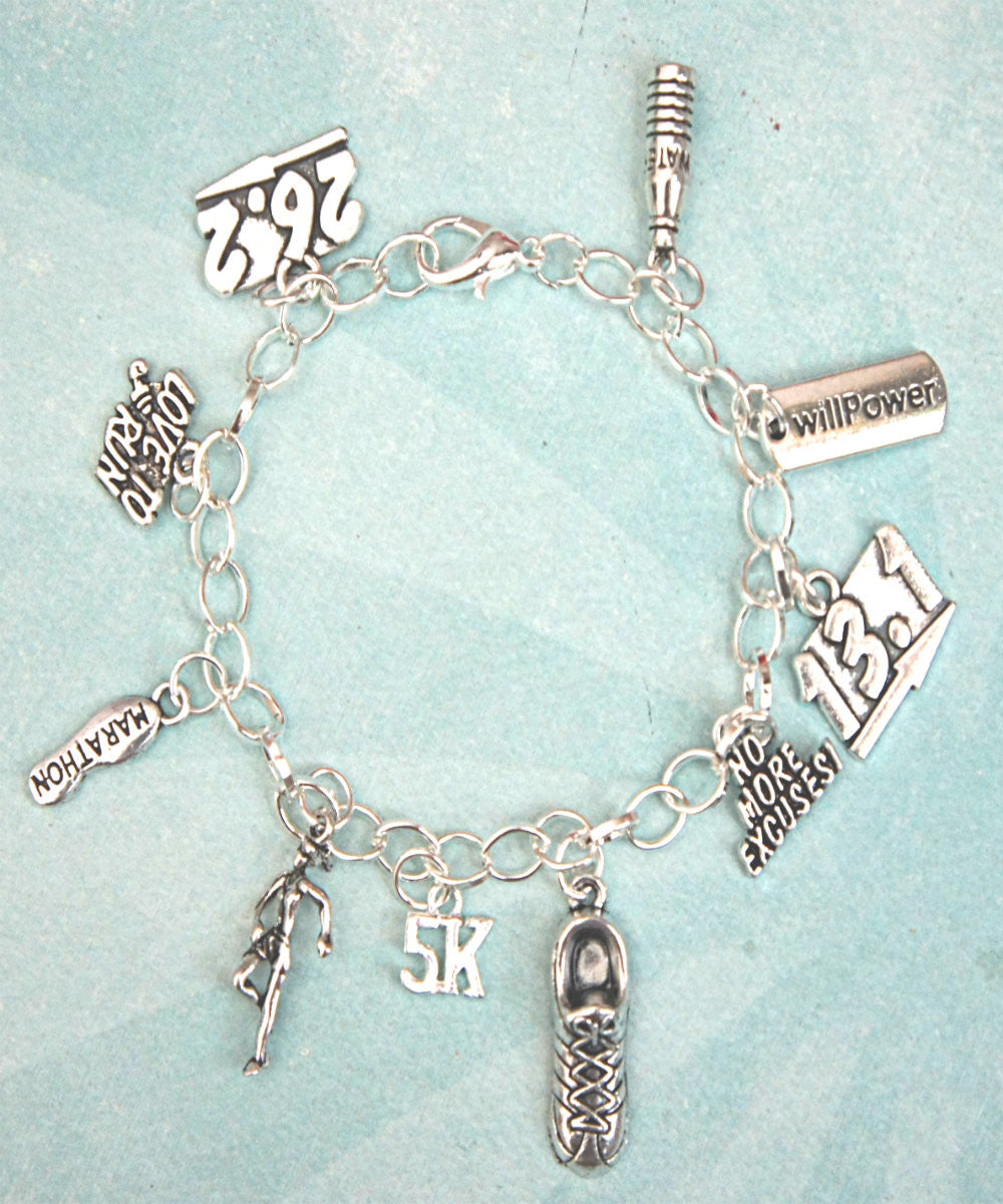 Marathon Inspired Charm Bracelet - Jillicious charms and accessories - 3