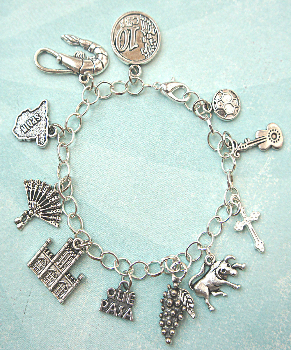 Spain Inspired Charm Bracelet - Jillicious charms and accessories - 3