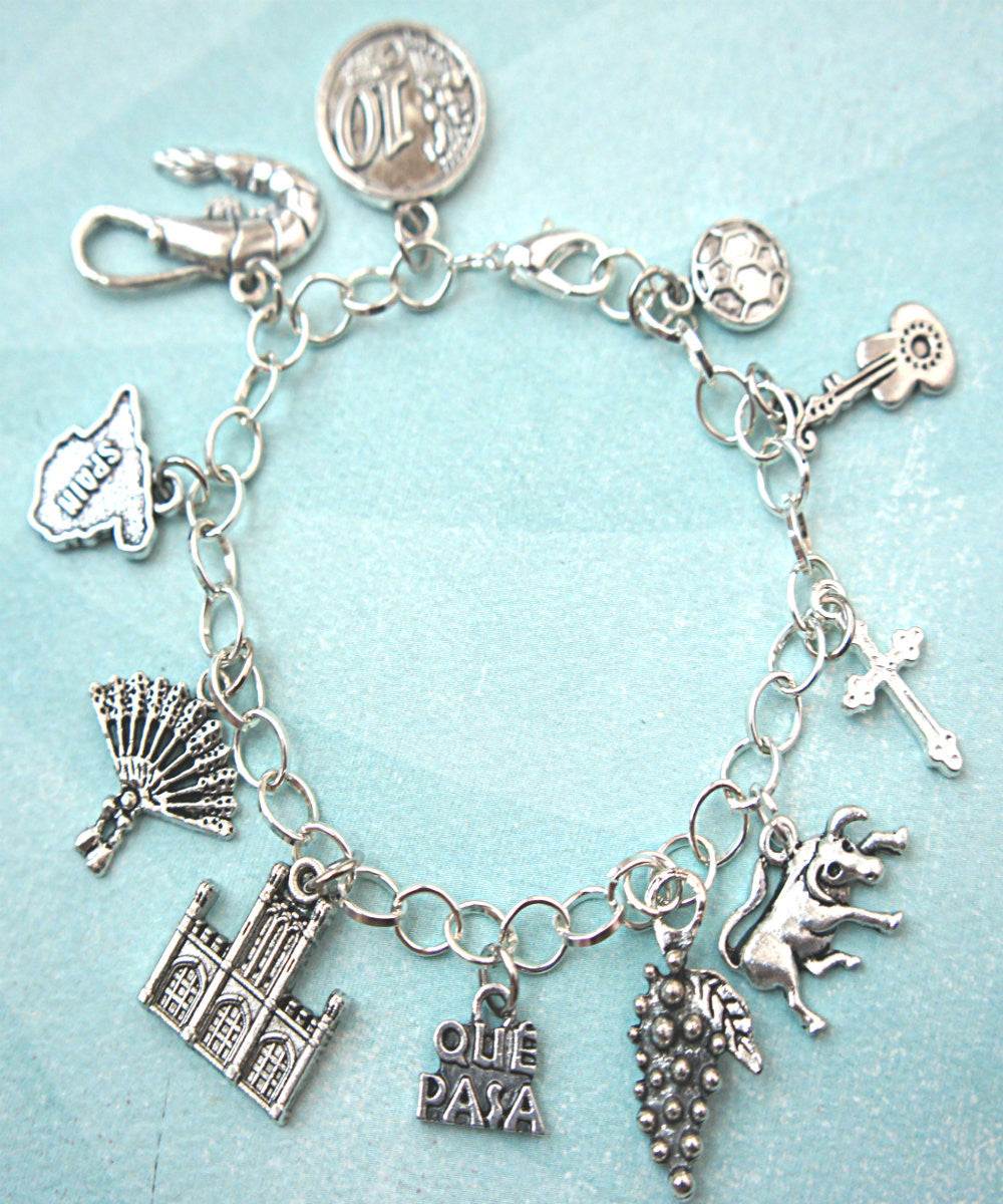 Spain Inspired Charm Bracelet - Jillicious charms and accessories - 1