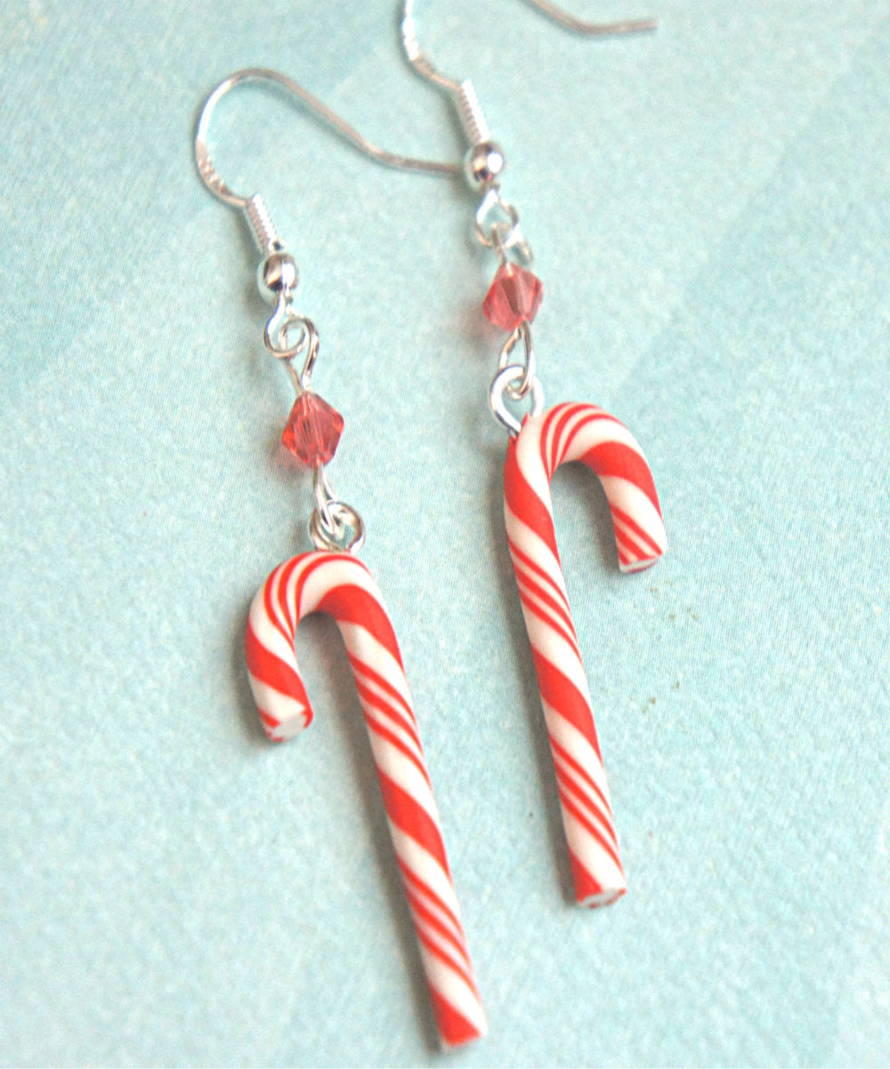 Candy Cane Dangle Earrings - Jillicious charms and accessories - 2