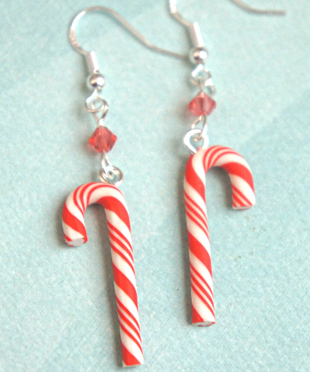 Candy Cane Dangle Earrings - Jillicious charms and accessories - 3
