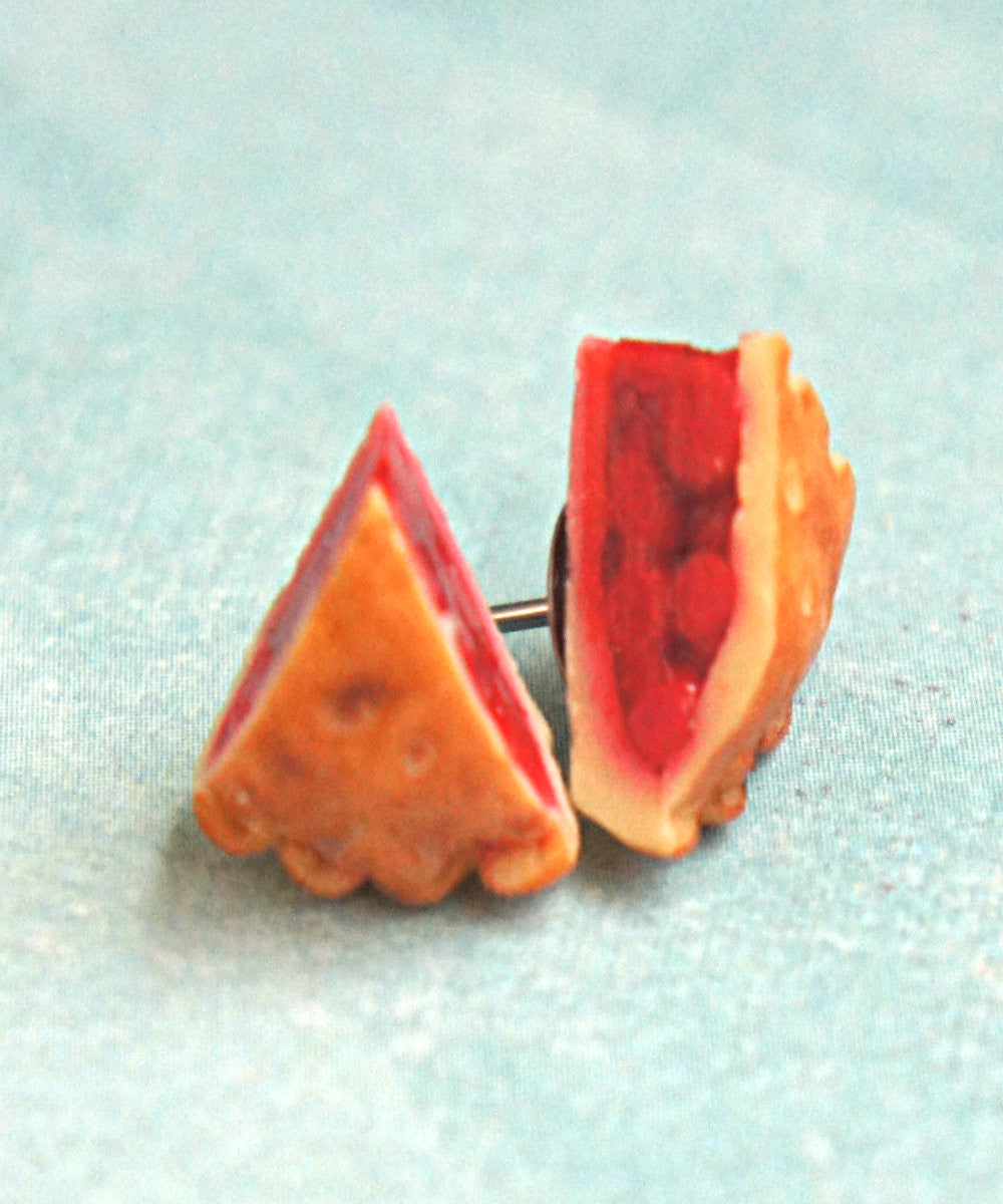 cherry pie stud earrings - Jillicious charms and accessories