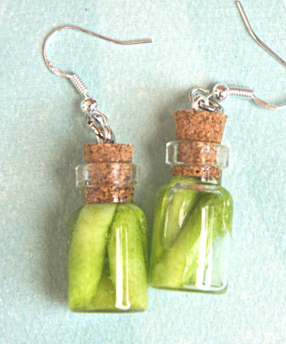 pickles jar earrings - Jillicious charms and accessories - 1