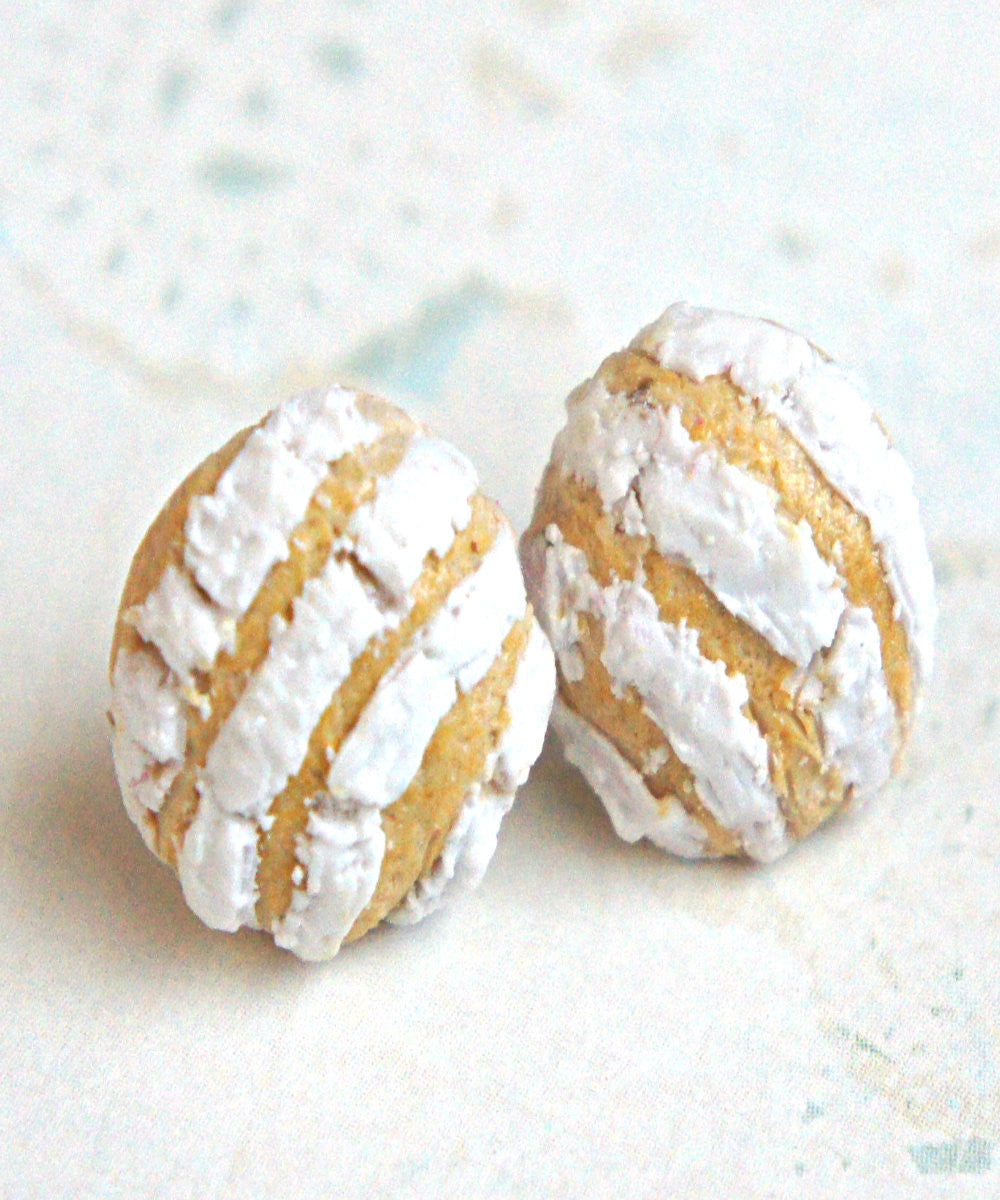 concha bread earrings - Jillicious charms and accessories