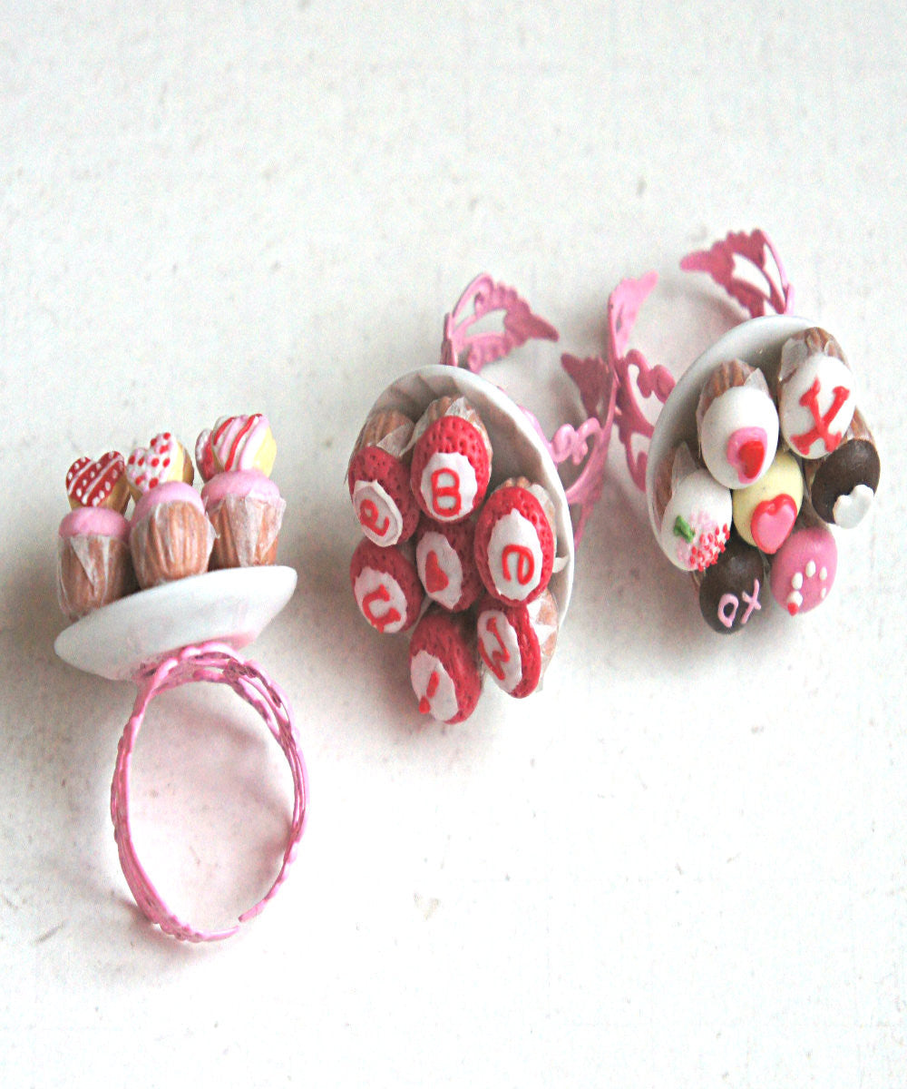 Valentine's Day Cupcakes Ring - Jillicious charms and accessories - 6