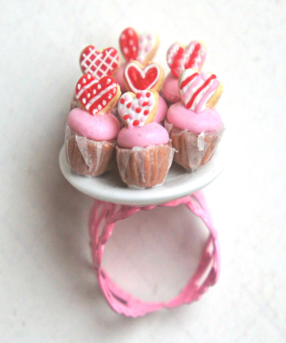 Valentine's Day Cupcakes Ring - Jillicious charms and accessories - 2
