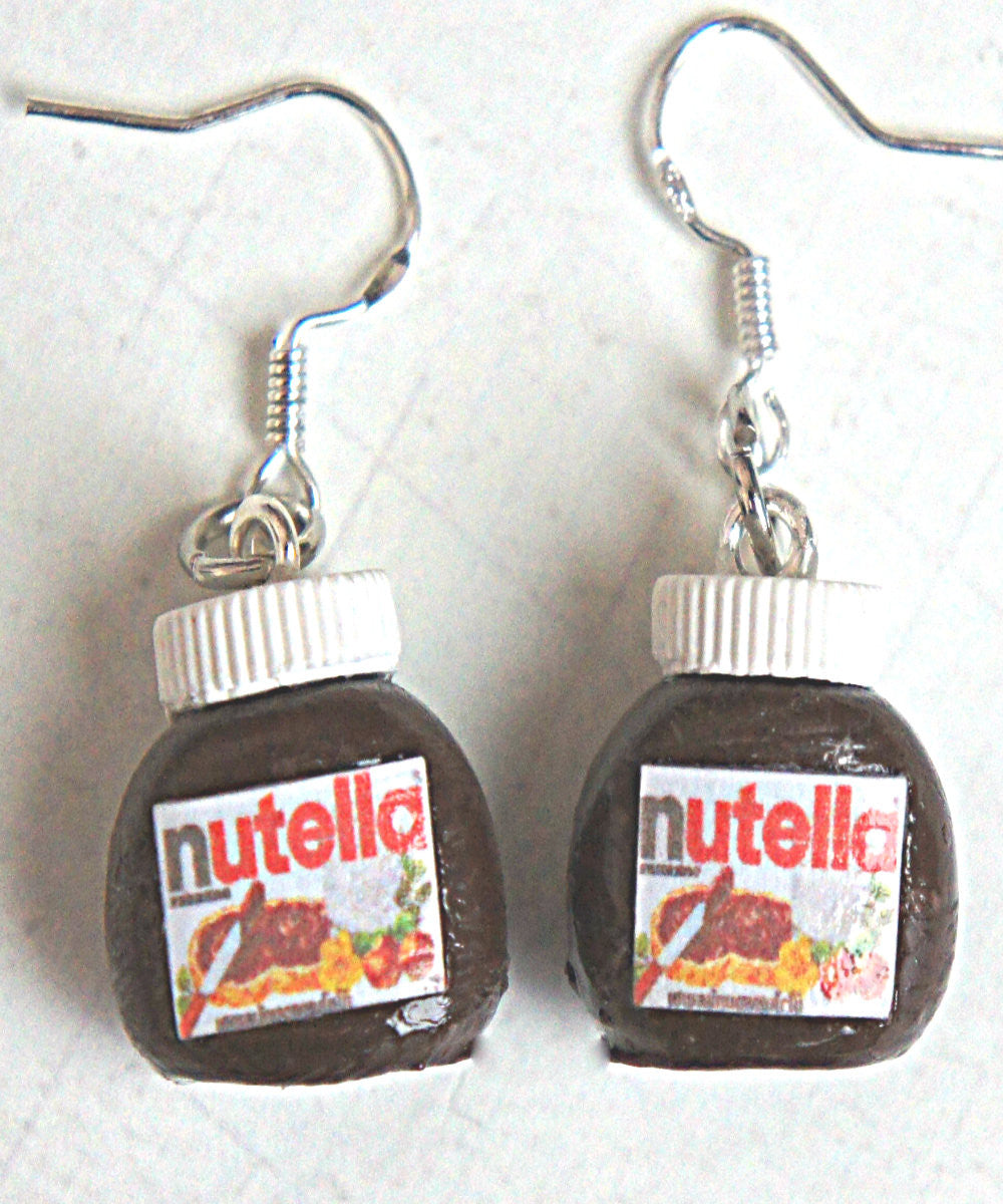 Nutella Jar Dangle Earrings - Jillicious charms and accessories