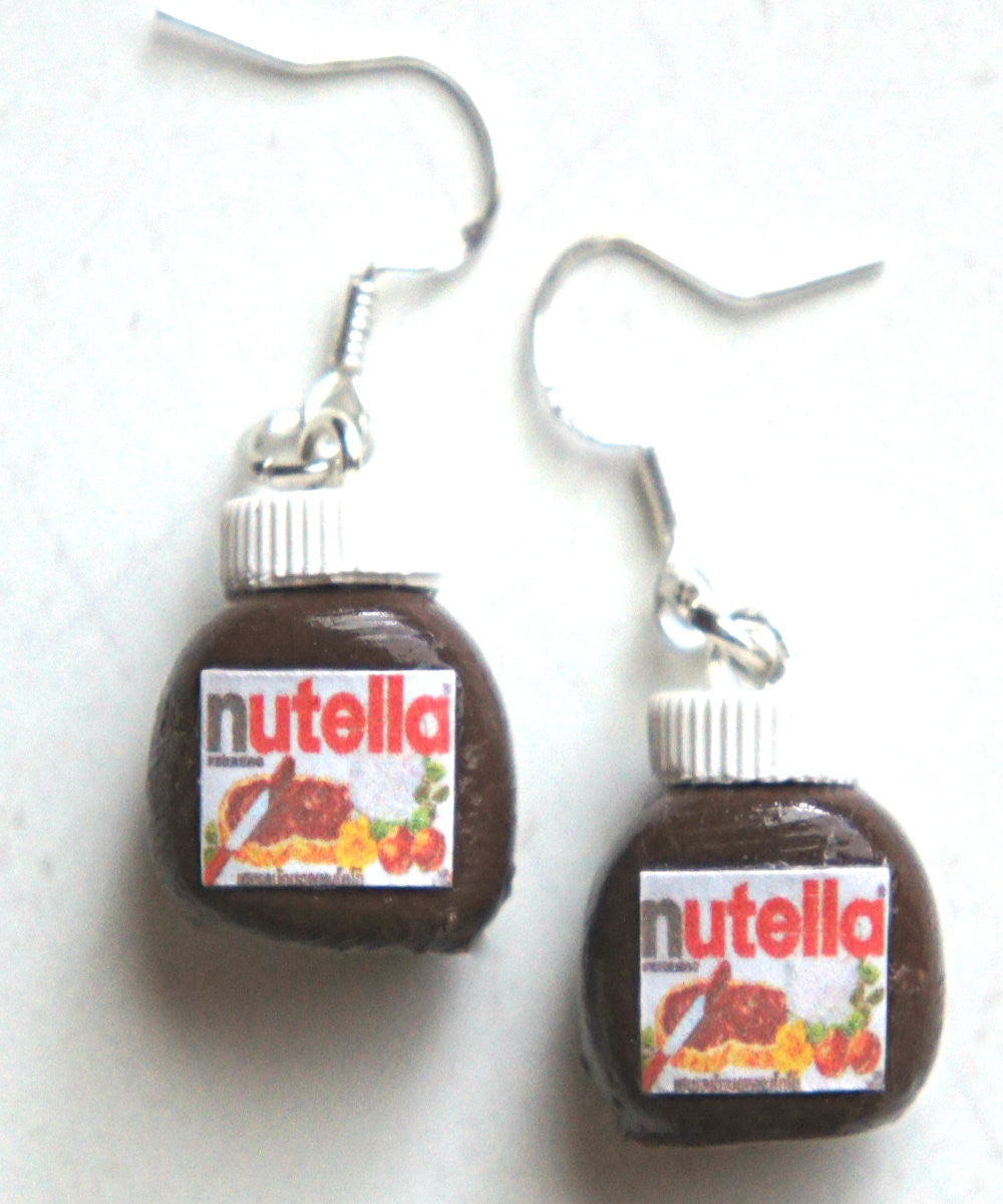 Nutella Jar Dangle Earrings - Jillicious charms and accessories - 1