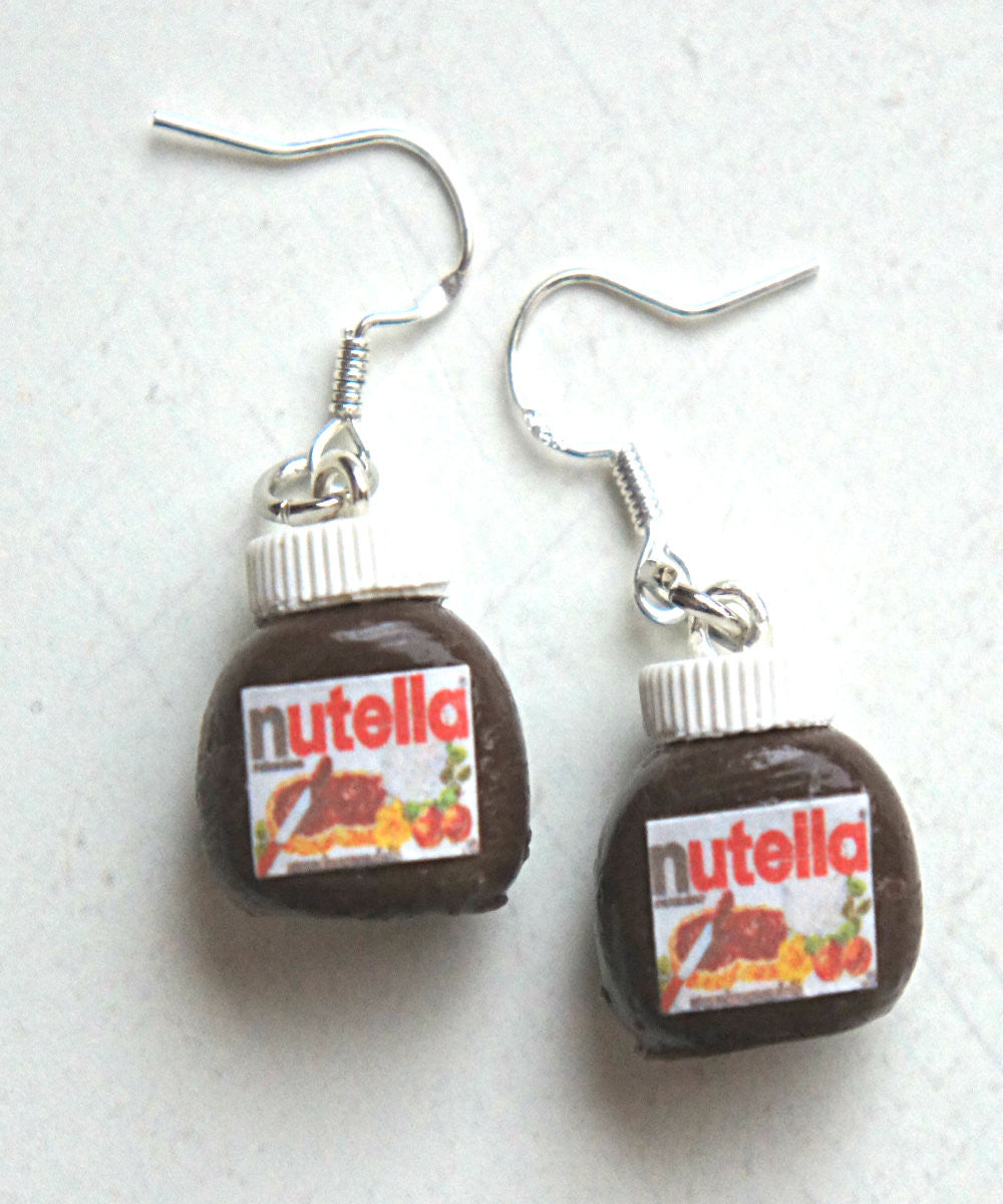 Nutella Jar Dangle Earrings - Jillicious charms and accessories - 2