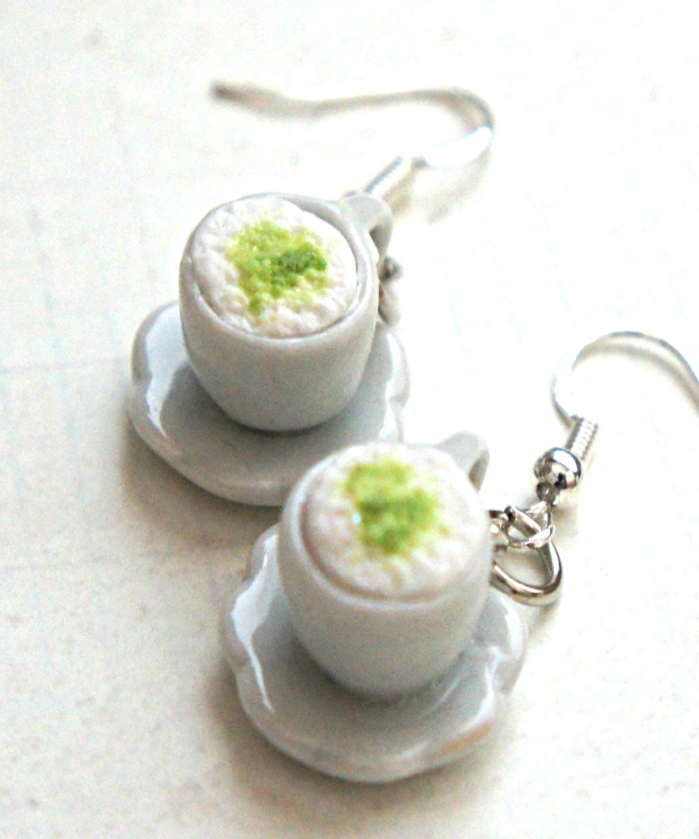green tea latte earrings - Jillicious charms and accessories - 1