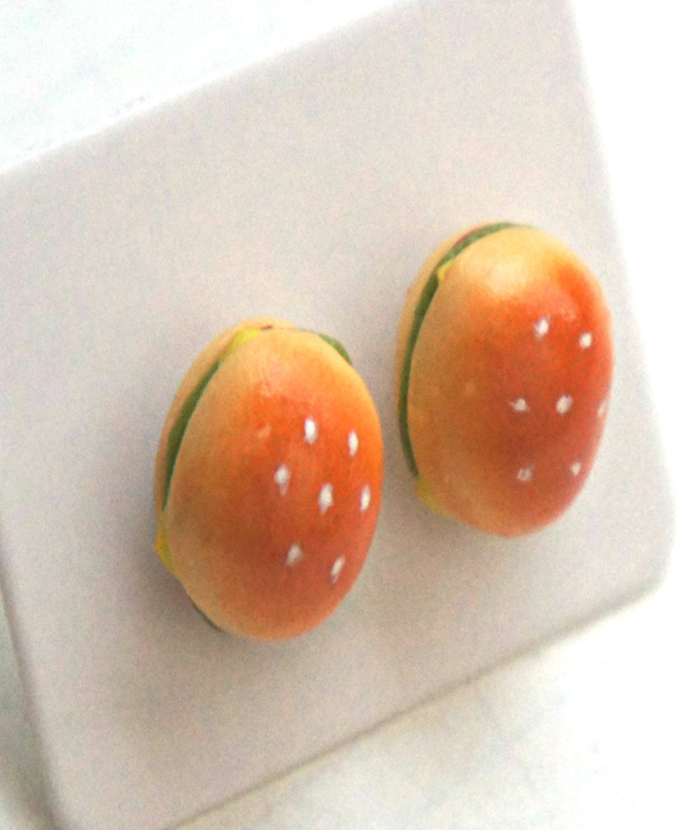 Burger Stud Earrings - Jillicious charms and accessories - 2