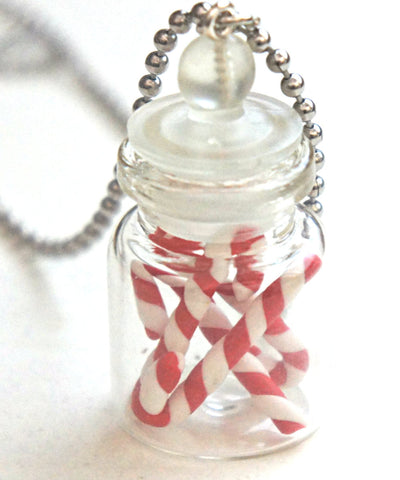 Candy Canes in a Jar Necklace - Jillicious charms and accessories